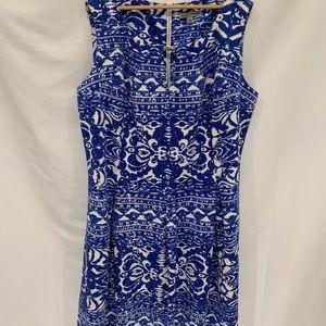 Danny Nicole blue white sleeveless dress Sz 22W